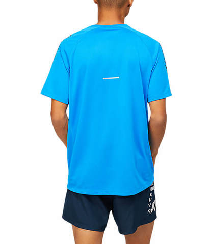 Asics Icon Ss Top футболка для бега мужская светло-голубая