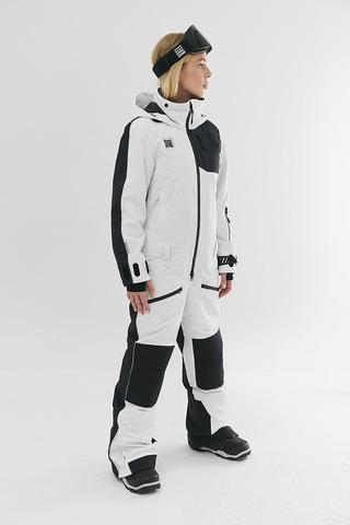 Cool Zone OVER комбинезон женский сноубордический белый-черный