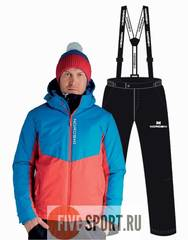 Nordski Montana Premium RUS прогулочный лыжный костюм мужской Blue-Black