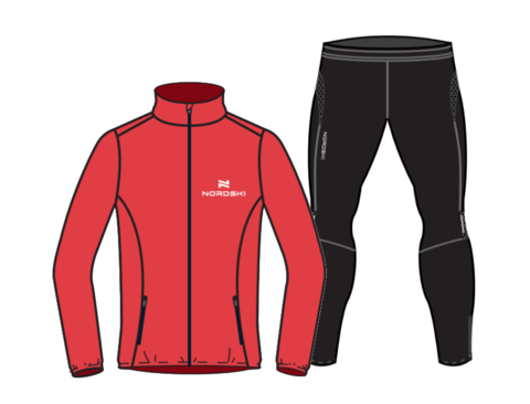 Nordski Motion Premium костюм для бега мужской Red