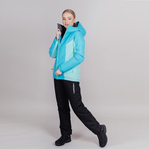 Утепленный лыжный костюм женский Nordski Base aquamarine-sky