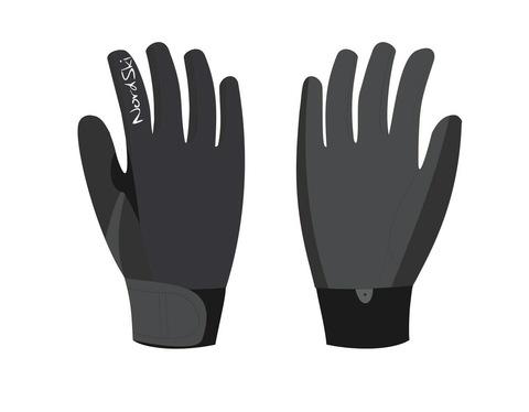 Nordski Racing WS Jr детские лыжные перчатки черные