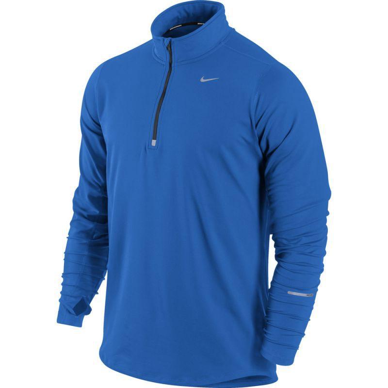 Футболка Nike Element 1/2 Zip LS /Рубашка беговая голубая