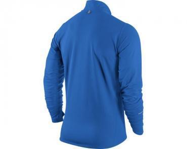 Футболка Nike Element 1/2 Zip LS /Рубашка беговая голубая - 2