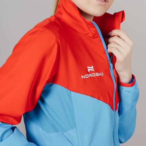 Nordski Sport костюм для бега женский red-blue