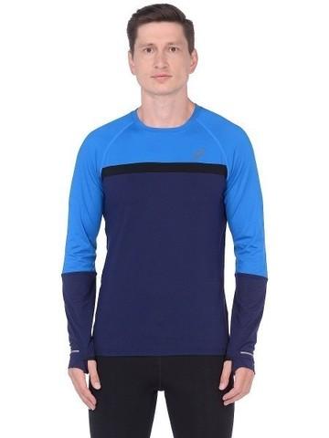 Asics Thermopolis Plus LS рубашка для бега мужская синяя