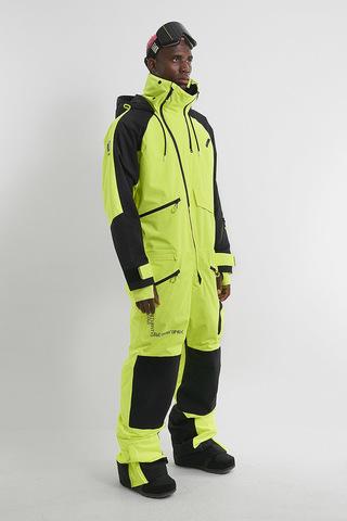 Cool Zone DROP комбинезон для сноуборда мужской черный-салатовый