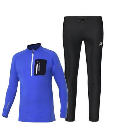 Noname Thermo утепленный лыжный комбинезон унисекс синий-черный
