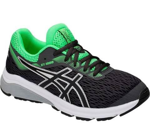 Asics Gt 1000 7 GS кроссовки для бега детские черные-зеленые