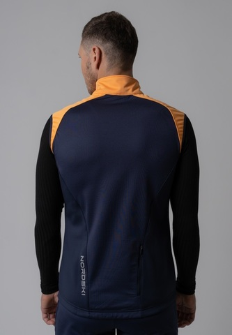 Nordski Premium лыжный жилет мужской orange-blueberry