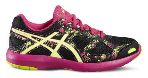 Asics Gel Lightplay 3 Gs кроссовки для бега детские черные-розовые