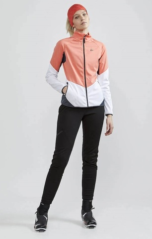 Craft Glide XC лыжный костюм женский белый-коралловый