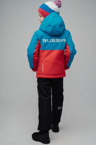 Nordski Kids Montana утепленная лыжная куртка детская blue-red