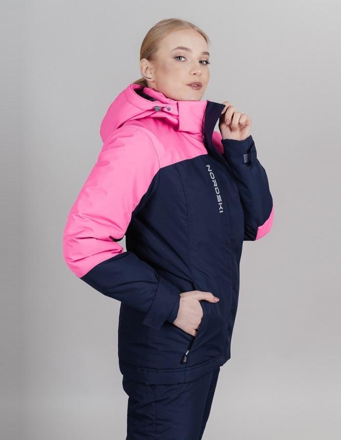 Nordski Mount лыжная утепленная куртка женская dark blue