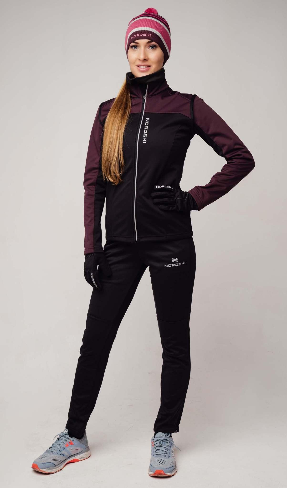 Nordski Active Base женский беговой костюм purple