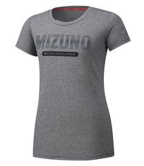 Mizuno Heritage 06 Tee футболка для бега женская серая