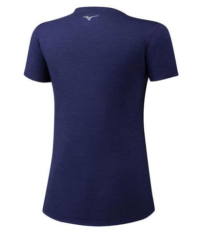 Mizuno Impulse Core Graphic Tee футболка для бега темно-синяя