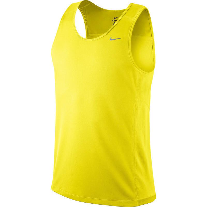 Майка л/а Nike Miler Singlet жёлтая мужская - 4