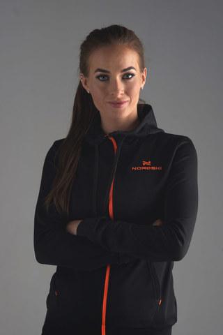 Nordski Hood толстовка женская black-orange