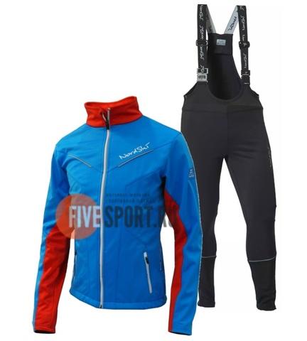 Nordski National Active разминочный лыжный костюм женский Blue-Black