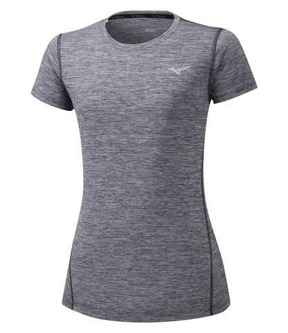 Mizuno Impulse Core Tee футболка для бега женская серая