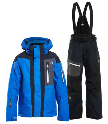 8848 Altitude Aragon Defender детский горнолыжный костюм blue-black