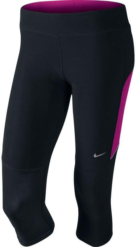 Тайтсы Nike Filament Tight Capri (W) чёрно-фиолетовые