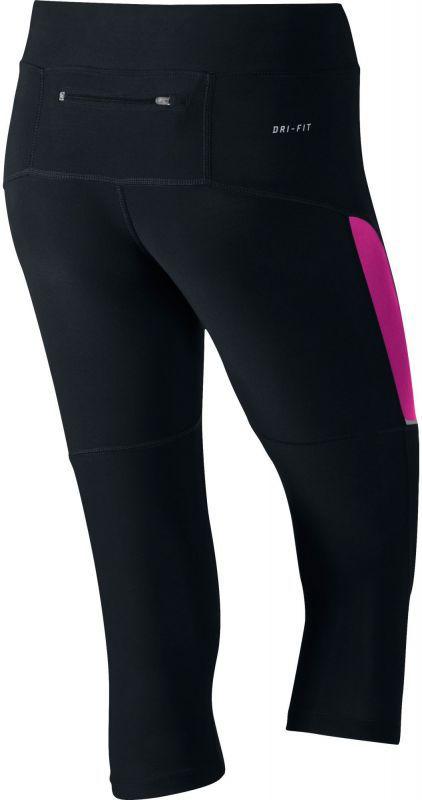 Тайтсы Nike Filament Tight Capri (W) чёрно-фиолетовые - 2