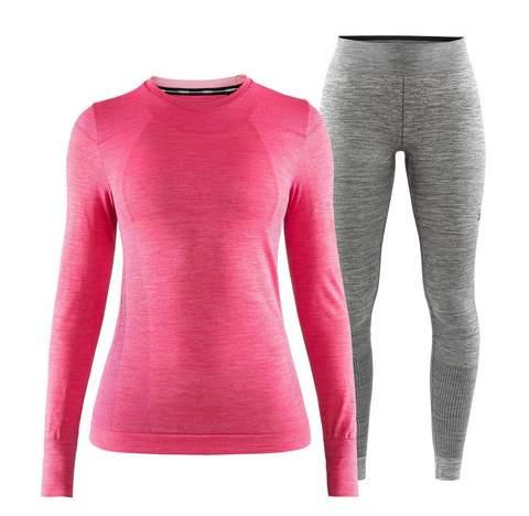 Craft Fuseknit Comfort комплект термобелья женский pink-grey