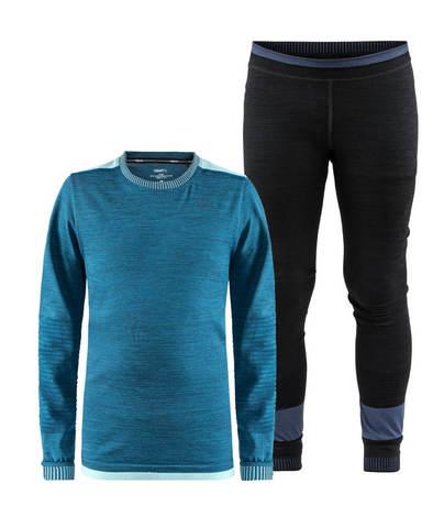Craft Active Fuseknit Comfort комплект термобелья детский синий-черный