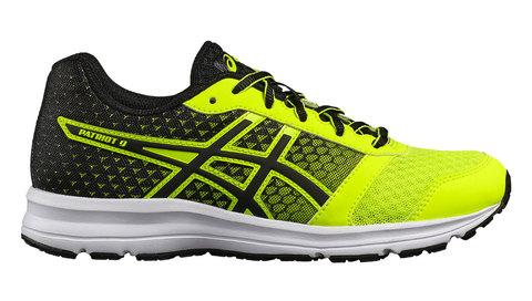 Asics Patriot 9 GS кроссовки для бега детские черные-желтые