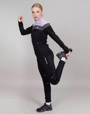 Лыжный костюм женский Nordski Drive black-orchid