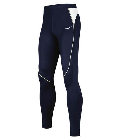 Mizuno Premium Jpn Long Tight беговые тайтсы мужские темно-синие