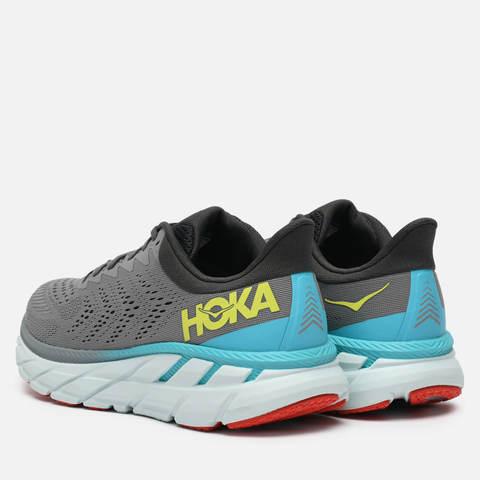 Hoka One One Clifton 7 кроссовки для бега мужские серые