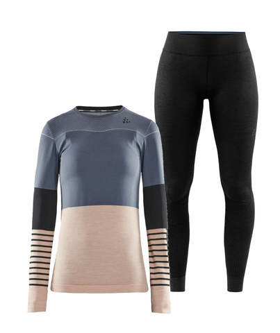 Craft Fuseknit Comfort Blocked комплект термобелья женский grey-black