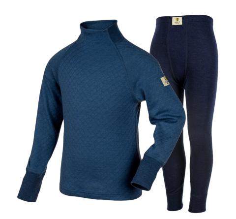 Janus Prince or Princess Wool комплект термобелья детский из шерсти мериносов синий