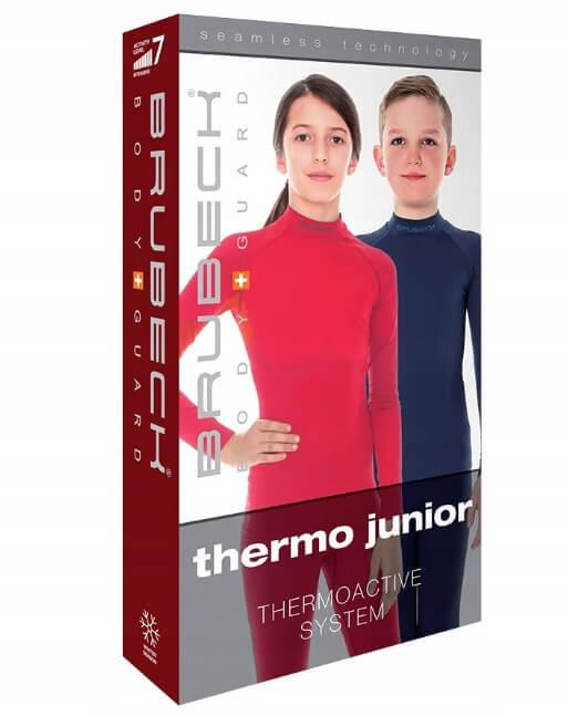 Brubeck Thermo Nilit Heat детские терморейтузы черные - 3