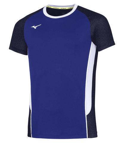 Mizuno Premium High Kyu Tee футболка для волейбола мужская синяя