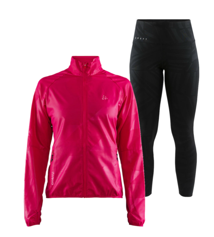 Craft Eaze Charge женский костюм для бега черный-розовый