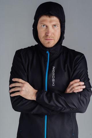 Nordski Run Premium костюм для бега мужской Black-Blue