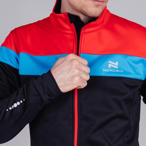 Nordski Drive мужской разминочный лыжный костюм black