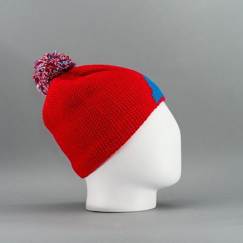 Nordski Knit лыжная шапка colour red-blue