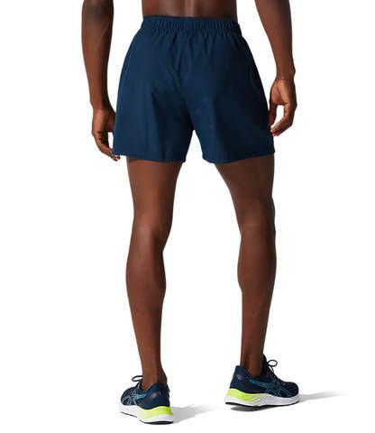 """Asics Core 5"""" Short шорты для бега мужские темно-синие"""