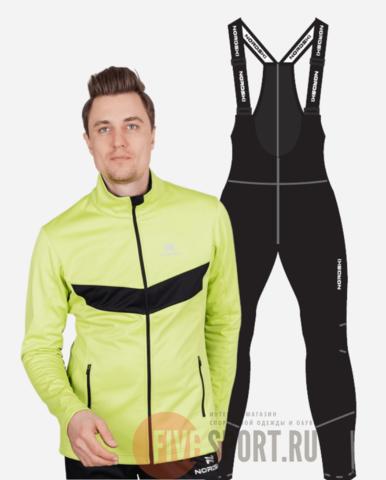 Nordski Base Active разминочный костюм мужской lime