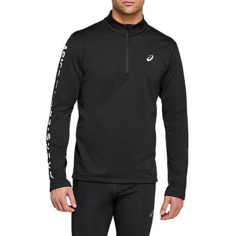 Asics Katakana Winter 1/2 Zip рубашка беговая мужская черная