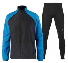 Беговой костюм мужской Asics Jacket Tight black-blue