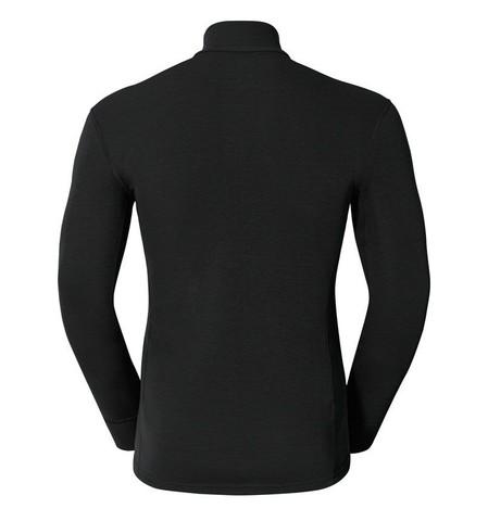 Odlo Warm мужская терморубашка c воротником-стойкой черная
