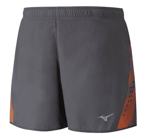 Mizuno Premium Aero Square 4.5 шорты беговые мужские серые