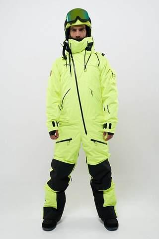 Cool Zone KITE мужской сноубордический комбинезон салатовый