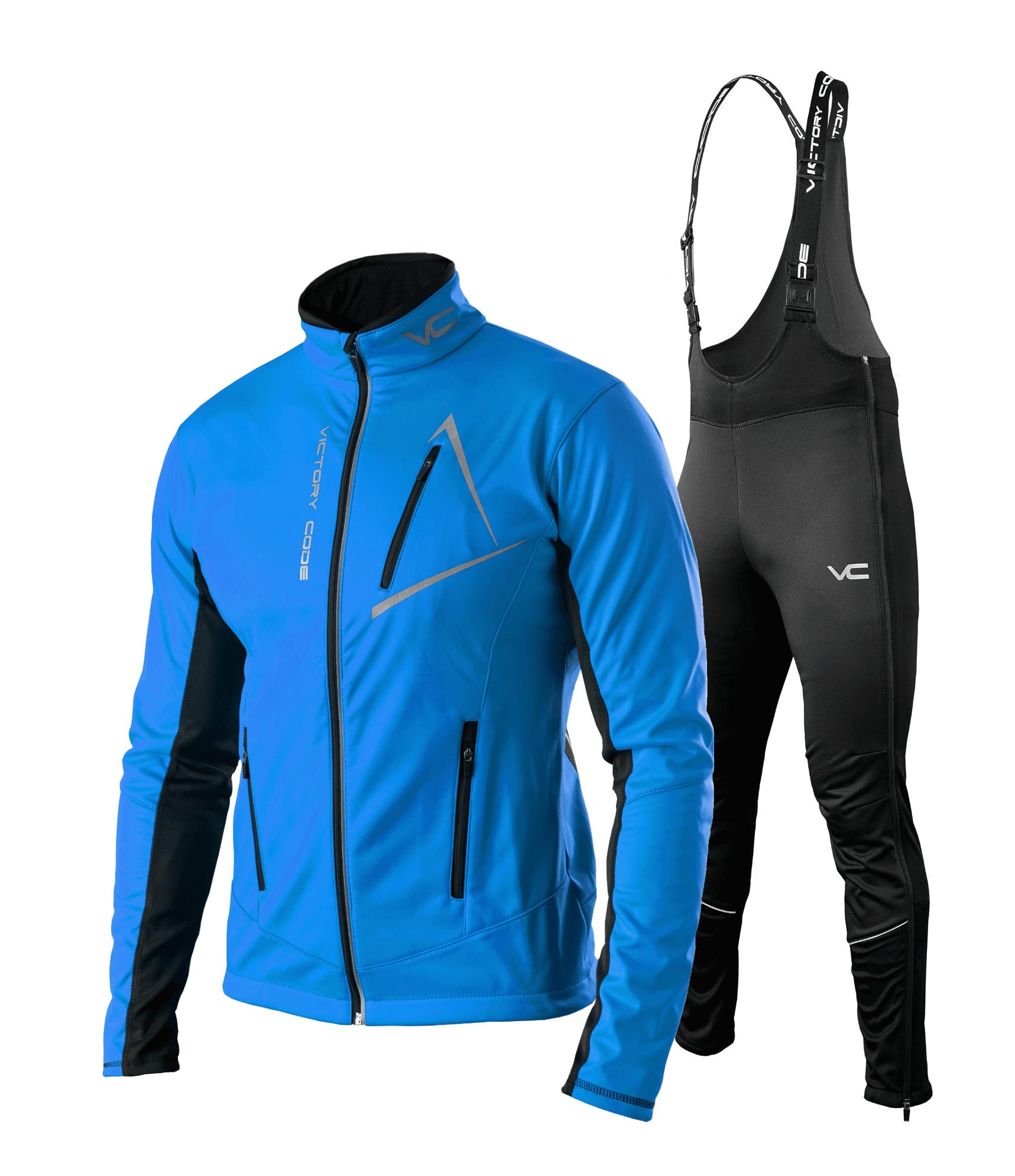 Victory Code Dynamic Warm разминочный лыжный костюм со спинкой blue - 1